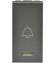 módulo pulsador de campainha para led arteor 250v 10a magnésio