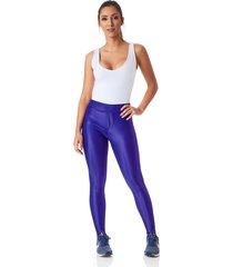 legging areia bronze disco pants com bolso azul royal