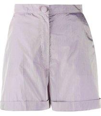 loulou high-waist shorts - purple