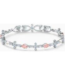 braccialetto perfection, rosa, placcato rodio