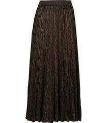 proenza schouler cashmere woodgrain jacquard knit skirt - brown