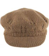 max mara mandare flat cap in camel cashmere