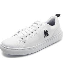 sapatãªnis polo wear logo branco - branco - masculino - sintã©tico - dafiti