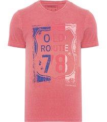 camiseta masculina ckj old route 78 - vermelho