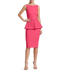 dominik laser-cut peplum dress