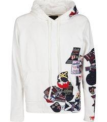 paul & shark multipatch distressed hoodie
