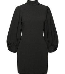 heavy crepe kort klänning svart ganni
