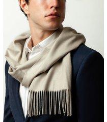 sciarpa da uomo, lanieri, cashmere seta beige, autunno inverno | lanieri