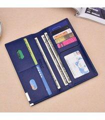 billetera, cartera delgada 2018 del monedero largo del-azul