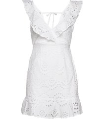 english lace frill dress korte jurk wit ivyrevel