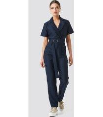 trendyol belted jumpsuit - blue