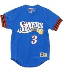 name number mesh crewneck allen iverson t-shirt