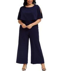 connected plus size popover jumpsuit