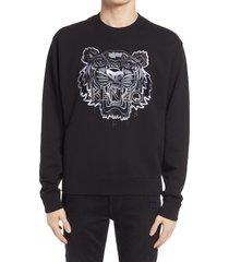 men's kenzo gradient tiger classic crewneck sweatshirt, size x-small - black