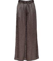 kourtney metallic drapy wijde broek grijs j. lindeberg