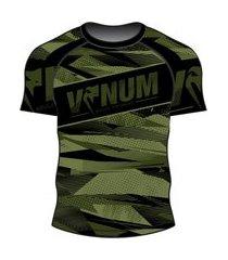 rash guard venum army camo ventura - manga curta .