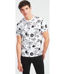 bawełniany t-shirt w print z logo