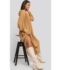 na-kd shoes straight shaft knee high boots - beige