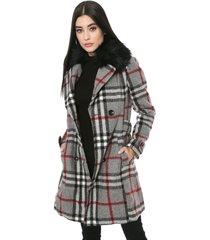 casaco colcci xadrez cinza
