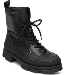 boot shoes boots ankle boots ankle boot - flat svart ganni