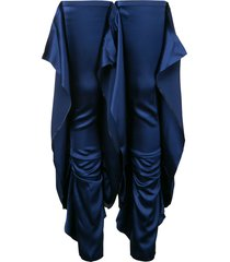 paula knorr draped thigh high leg warmer - blue