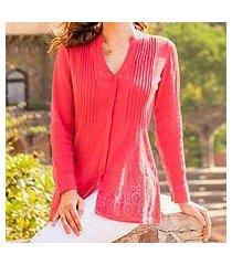 cotton tunic, 'hakoba in pink' (india)