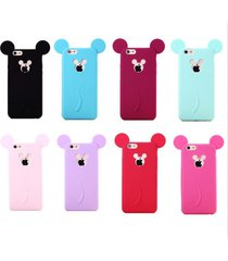 3d mickey mouse silicone case for iphone 6  6 plus cartoon soft case for iphone