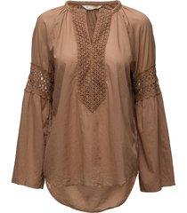 atmosphere l/s blouse blus långärmad brun odd molly