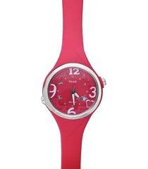 las vegas – orologio so fancy 3h corallo con ghiera argentata per donna