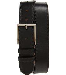 men's magnanni eastwood smooth leather belt, size 32 - black