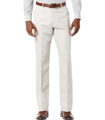 perry ellis men's linen blend solid twill pants