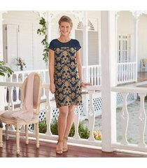 sundance catalog women's anderson dress in navy xs