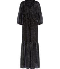 maxi-jurk met lurex gigi  zwart