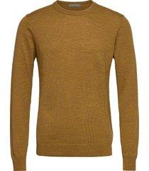 mens shearer crewe sweater gebreide trui met ronde kraag goud icebreaker
