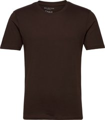 slhtheperfect ss o-neck tee b t-shirts short-sleeved brun selected homme