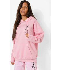 oversized ye sain west hoodie, light pink