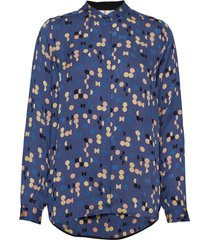 blouse blus långärmad blå noa noa