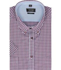 koszula lugo 1840 krótki rękaw slim fit bordo