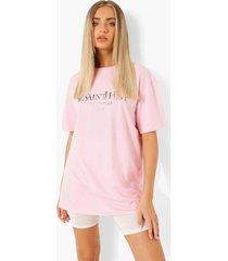 ye saint west slangenprint t-shirt met folie, light pink
