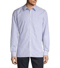 extra-fine cotton pinstripe shirt