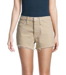 hudson women's cara denim cut-off shorts - brown - size 27 (4)