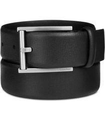 big & tall calvin klein men's leather feather-edge belt