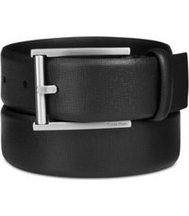 big & tall calvin klein men's leather feather-edge belt