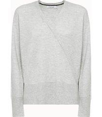 calvin klein maglia incrociata in lana