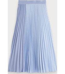 scotch & soda mixed stripe pleated skirt