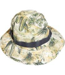 floral bucket hat, desert beige