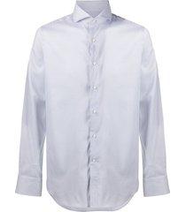 canali micro floral-print shirt - white