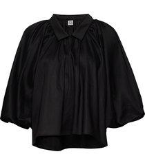 kerala blouse lange mouwen zwart totême