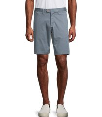 ted baker men's textured chino shorts - blue - size 36