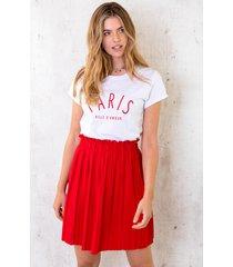 plisse rok rood